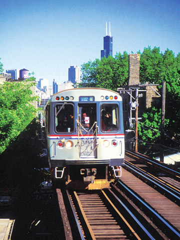 "Chicago's ""L"" train"