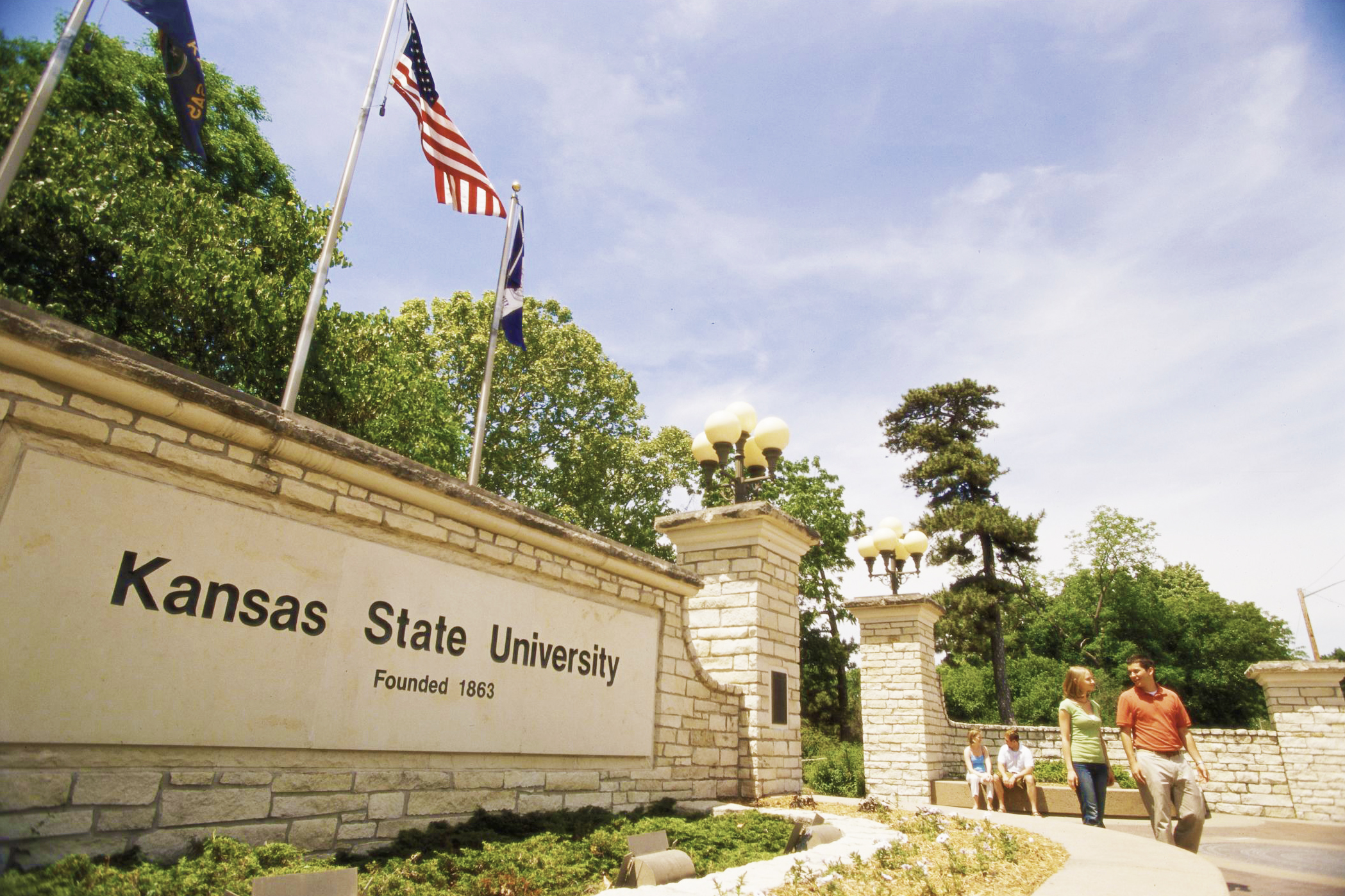 Kansas State University's campus in Manhattan.
