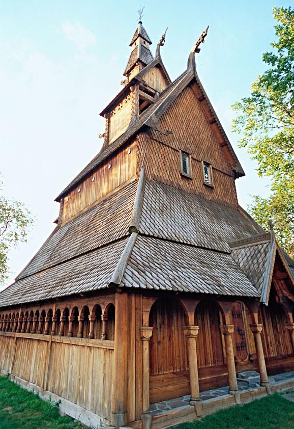 Hjemkomst Center stave church replica