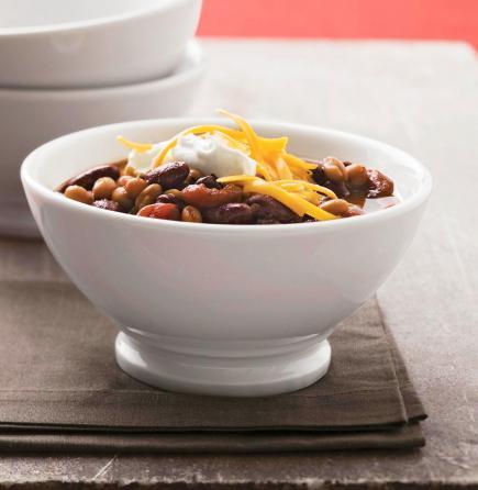 Slow Cooker Three-Bean Chili