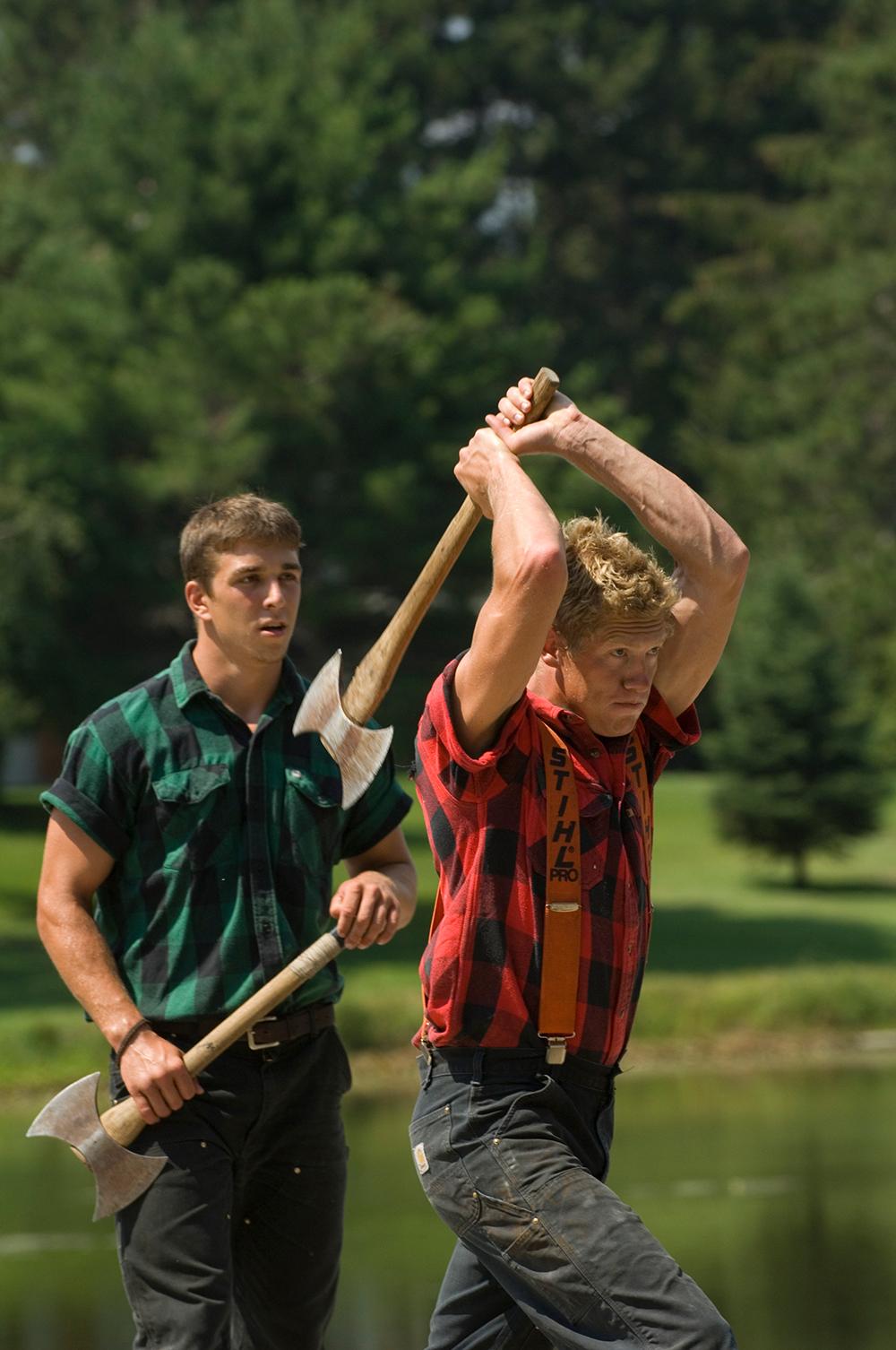 Fred Scheer's Lumberjack Show. Minocqua, Wisconsin.