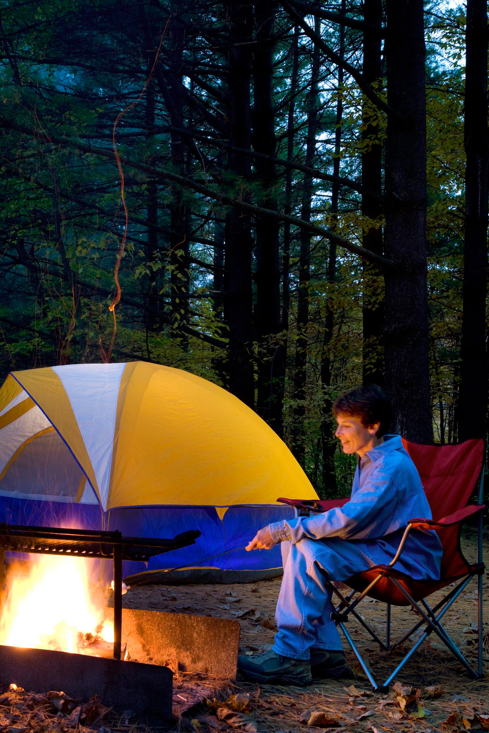 Campsites are first-come, first-served (not that there's much competition for the best spots).