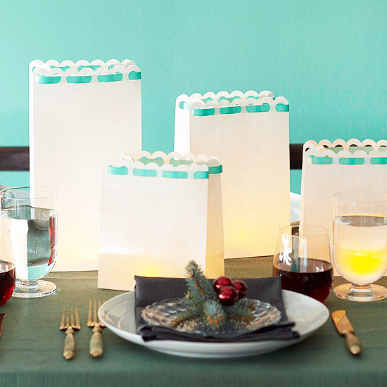 Christmas centerpiece ideas: luminaria
