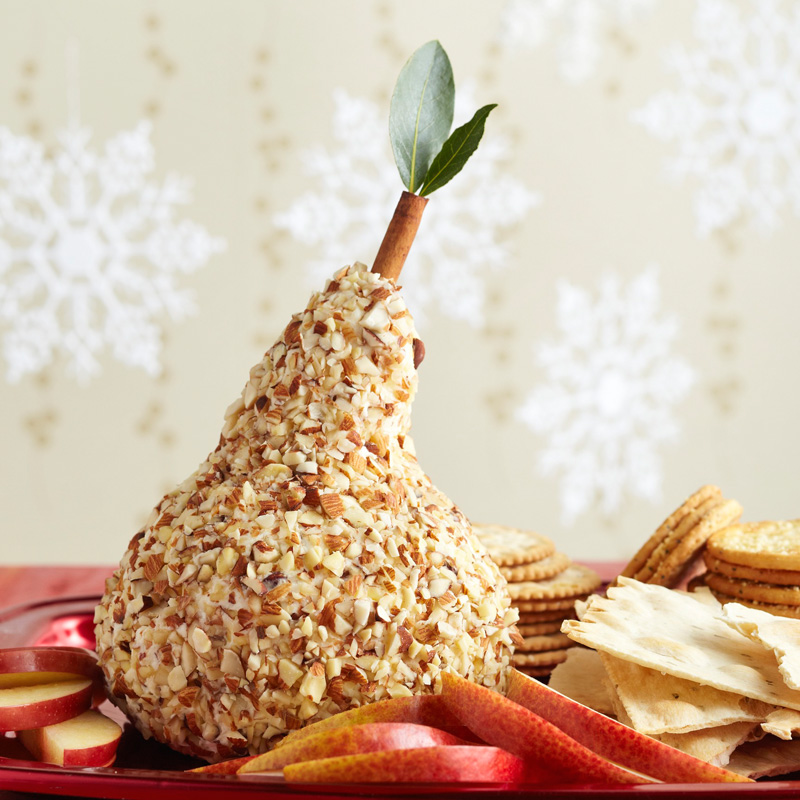 Pear-Shape Sake Cheese Ball