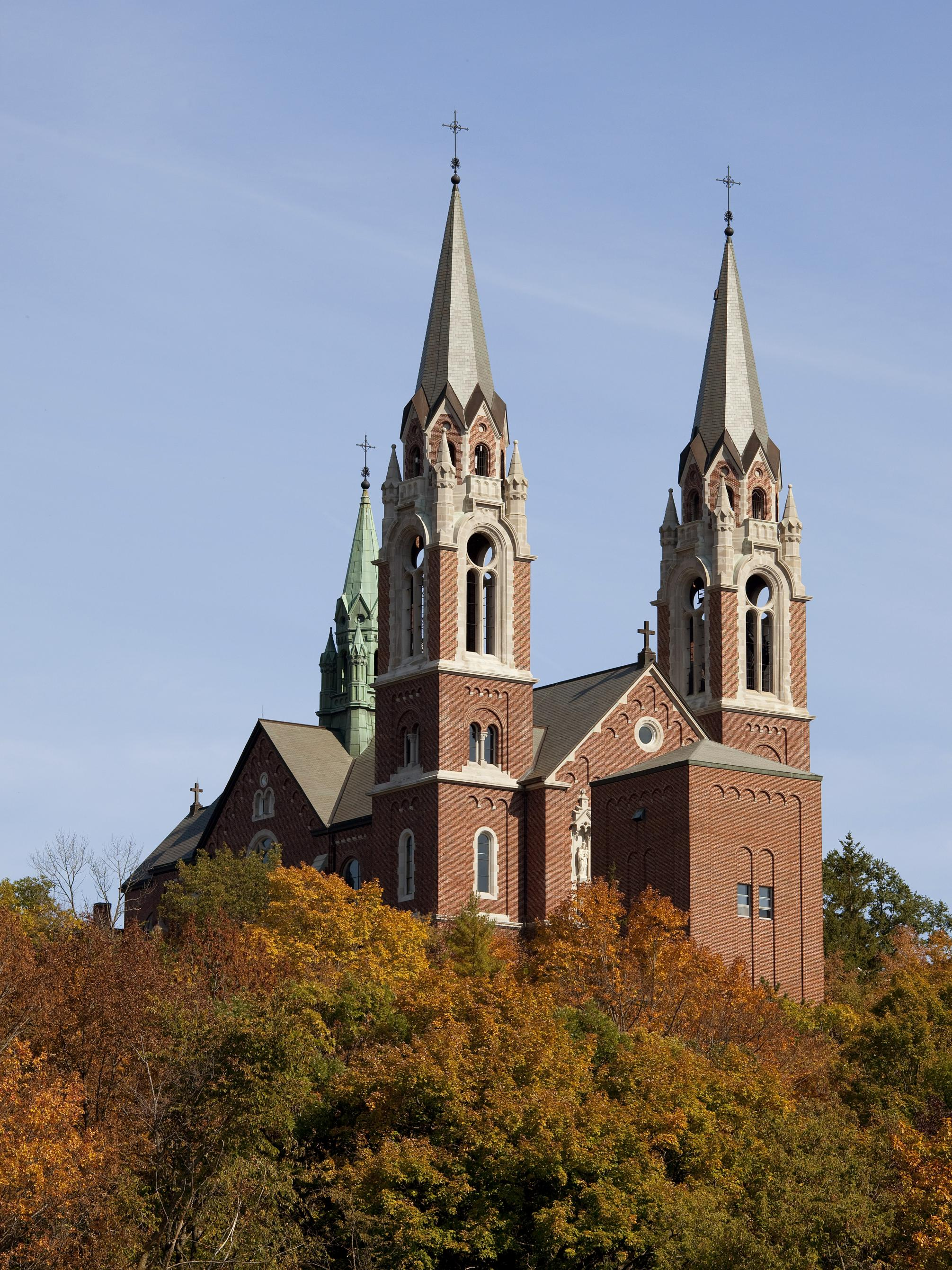 Basilica of the National Shrine of Mary Help of Christians at Holy Hill.