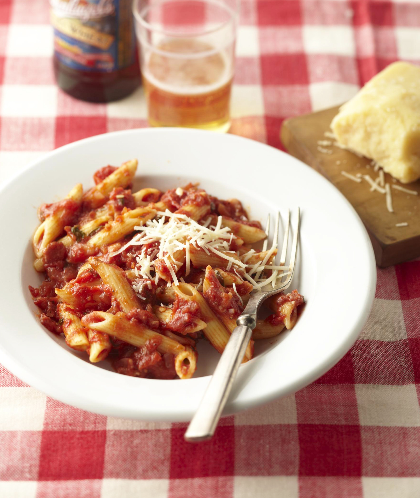 Penne with Arrabiata Sauce.