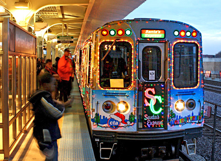 Holiday Train. Photo Courtesy of Chicago Transit Authority.