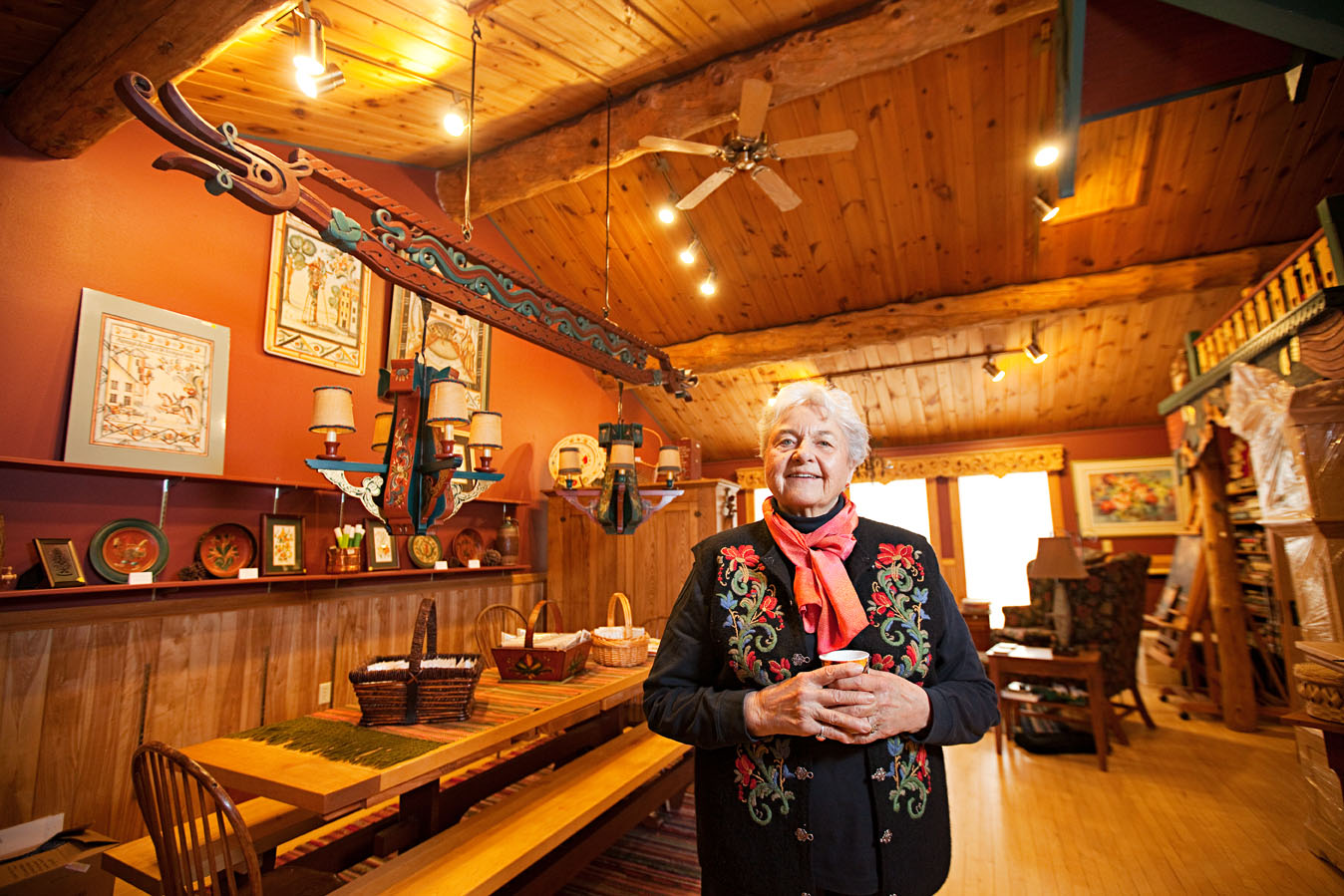 Karen Jenson, owner of Trestuen Garden Gallery and Studio.