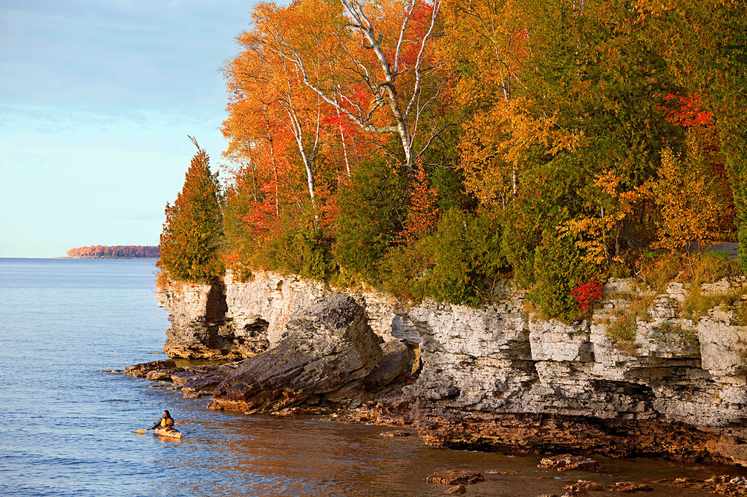 Cave Point County Park. & Fall Getaway in Door County\u0027s Sturgeon Bay | Midwest Living
