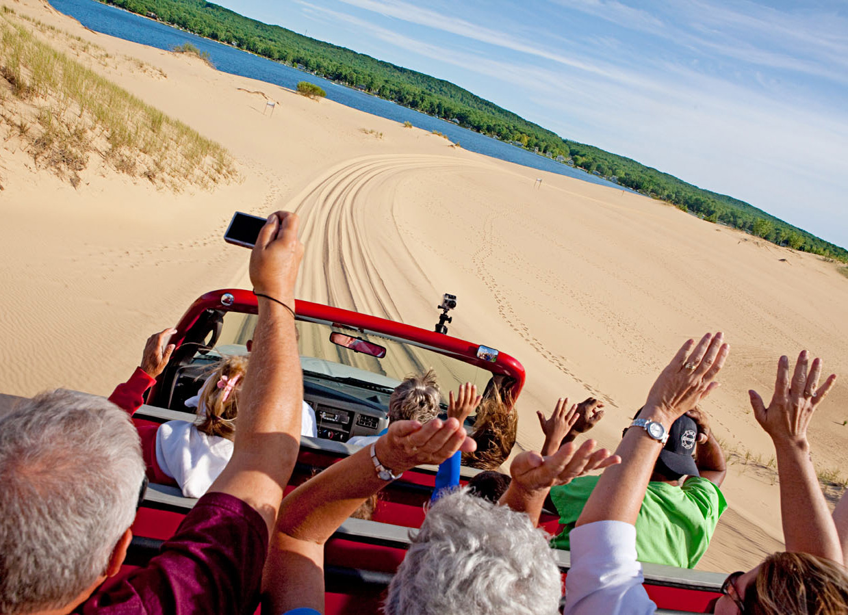 Mac Wood's Dune Rides. Muskegon, Michigan.