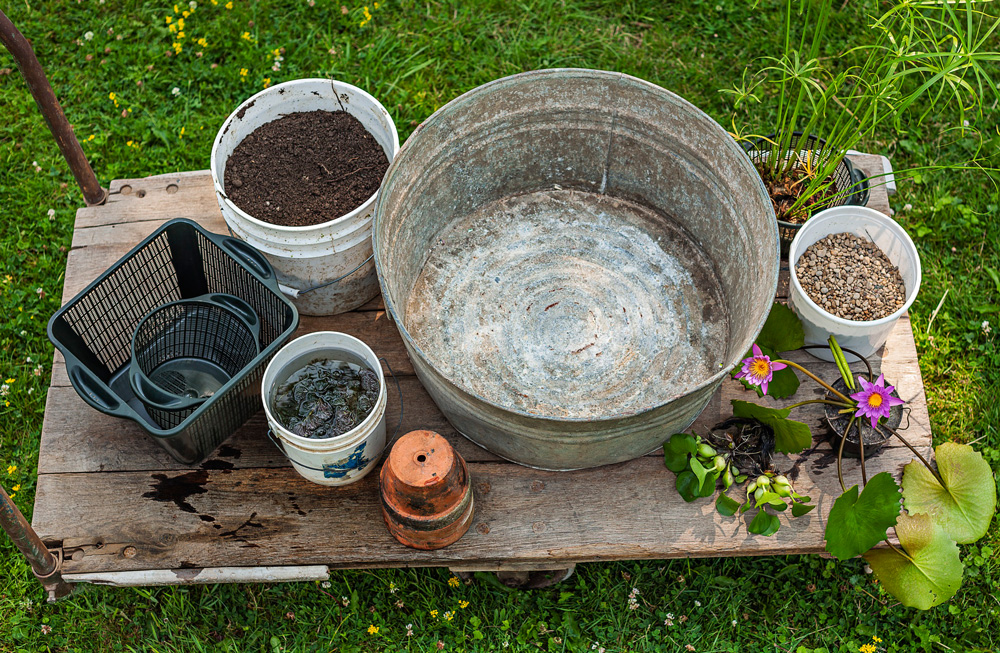 Materials Heres What Youll Need To Get Started On Your Water Container Garden