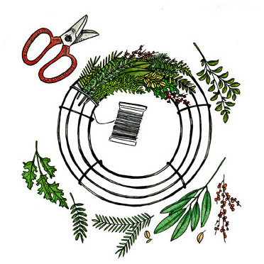 How to craft a wreath