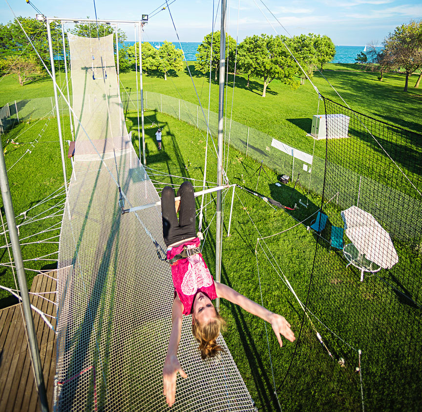 Trapeze school in Chicago