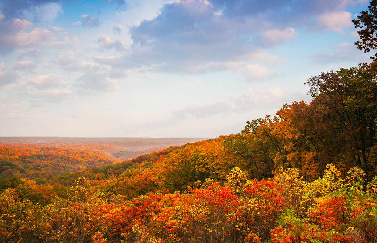 The View From Hesitation Point In Brown County State Park Photo By Bob Stefko