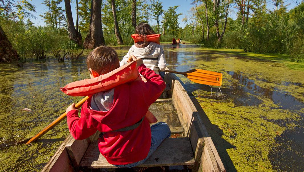 White Crane Canoe Rentals. Photo: Courtesy of IOT