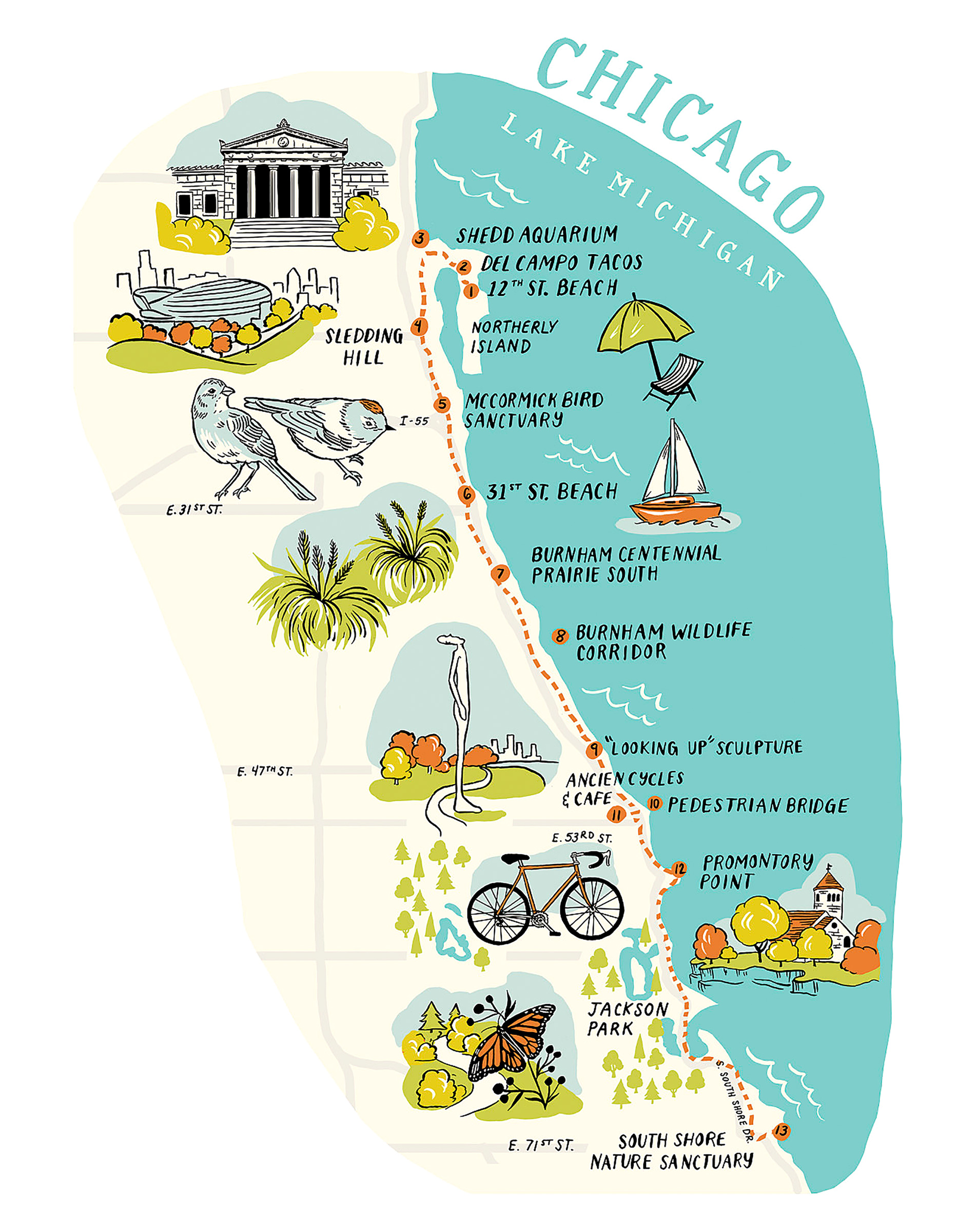 Chicago hiking map