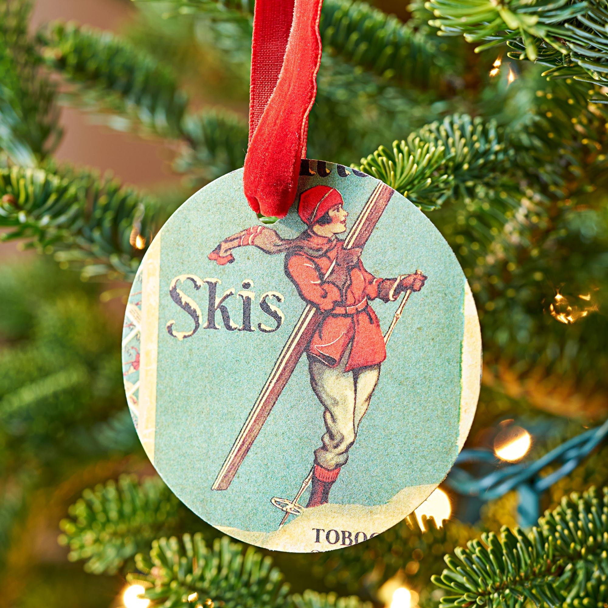Postcard ornaments
