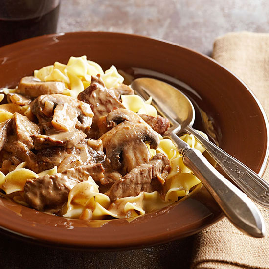 Cinnamon-Spiced Beef Stroganoff