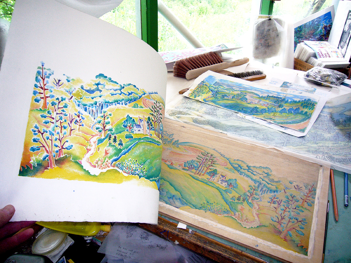 On the tour, visitors might see in-progress pieces, such as Linda Kelen's print I Live Here. Photo Courtesy of The Fall Art Tour.