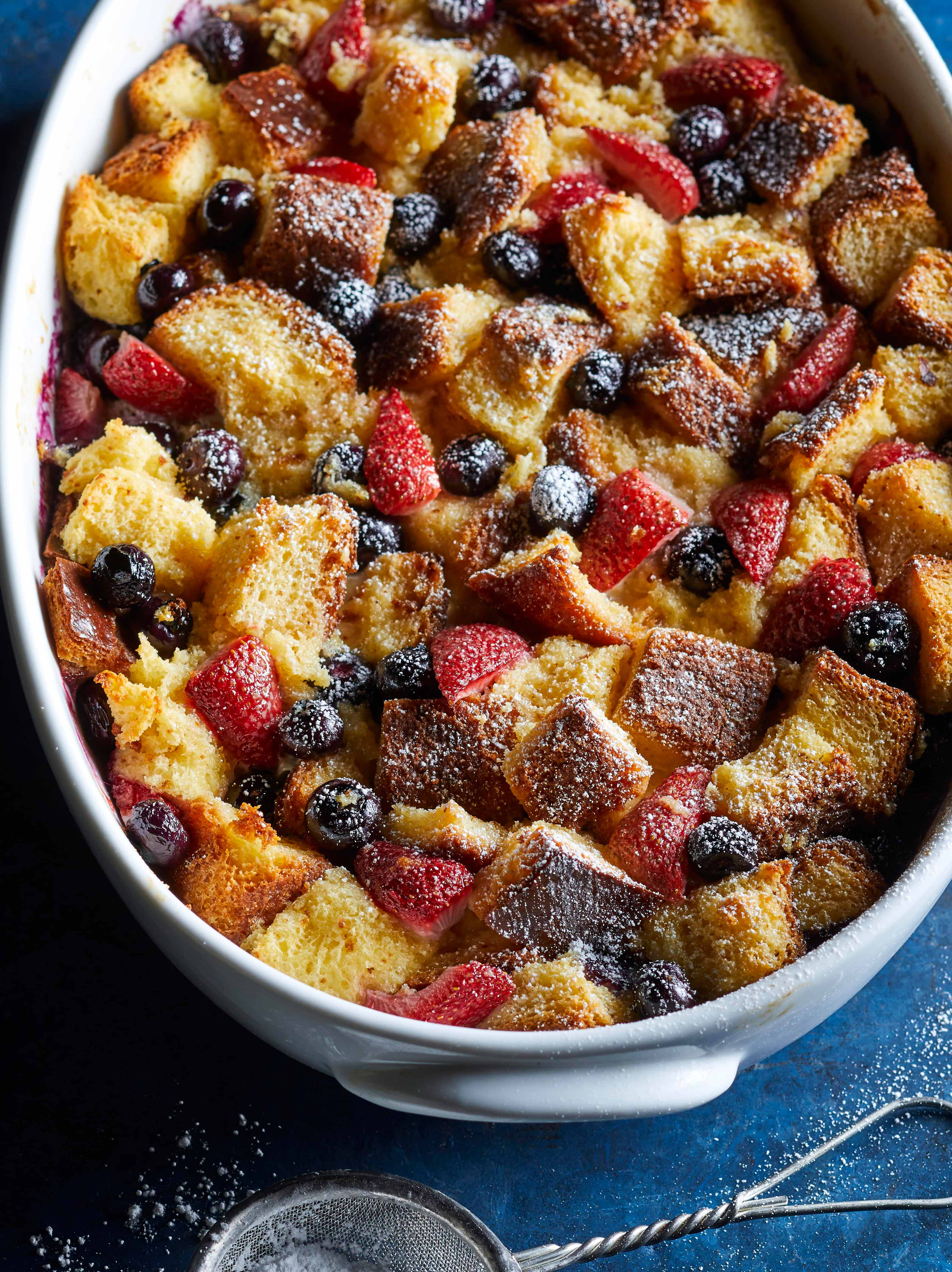 Double-Berry Bread Pudding