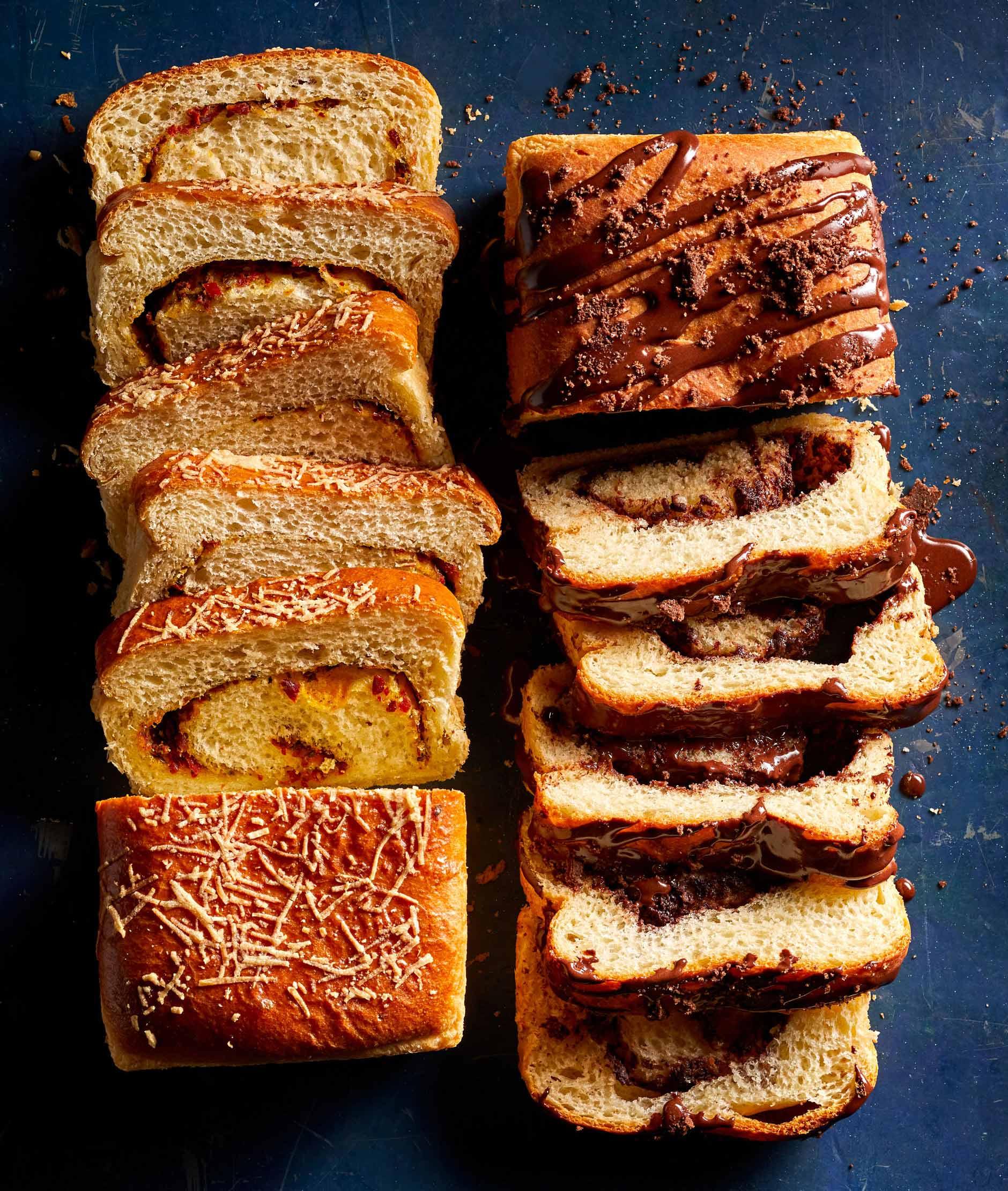 Brioche Swirl Loaves