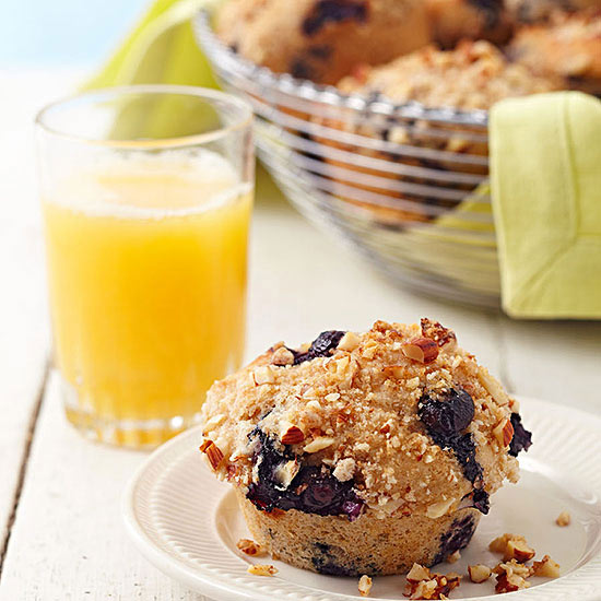 Blueberry-Almond Streusel Muffins