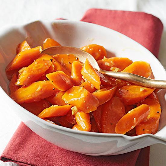 Bourbon Ginger Glazed Carrots