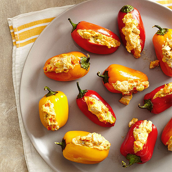 Buffalo Sweet Pepper Poppers