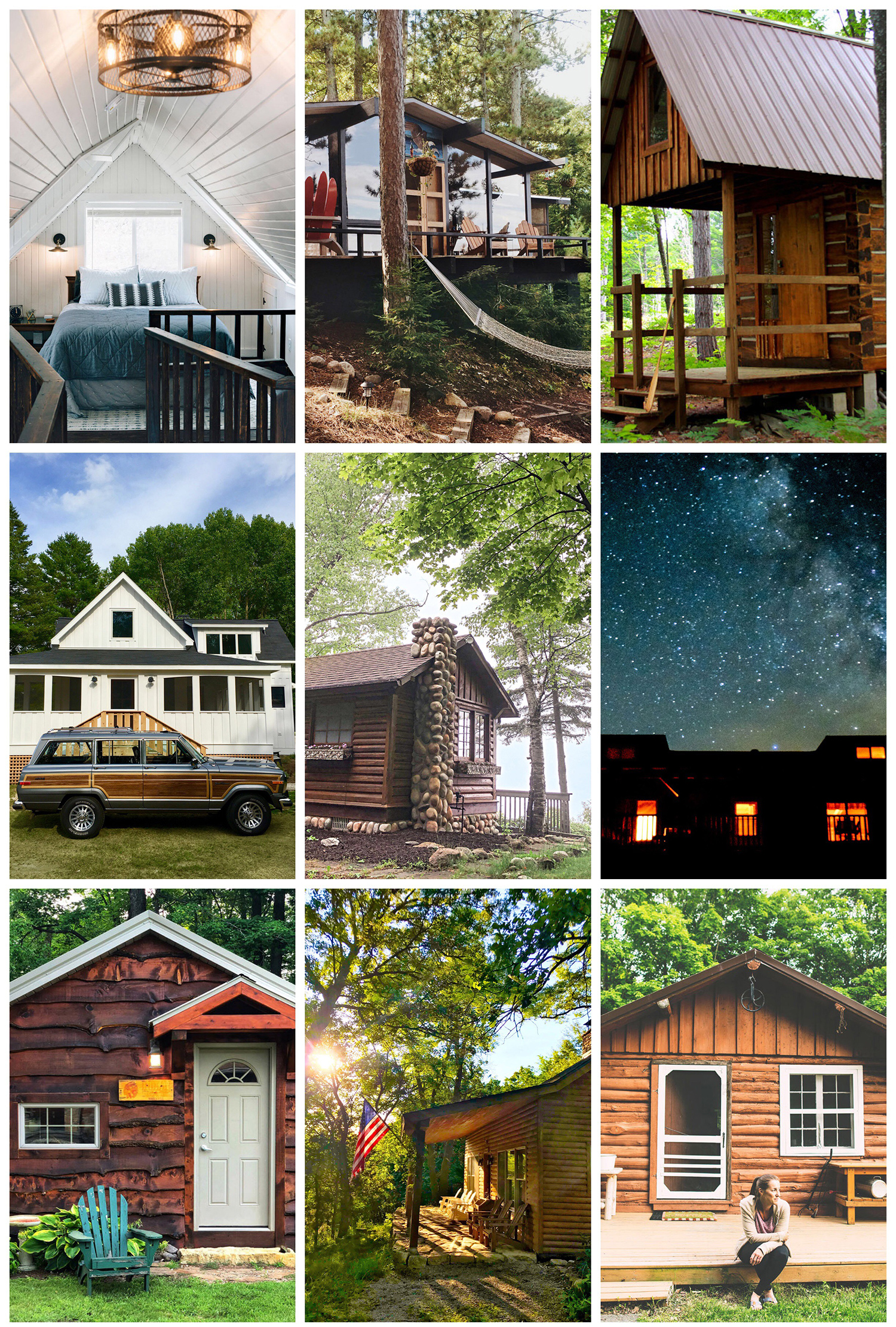 Instagrammers' cabins