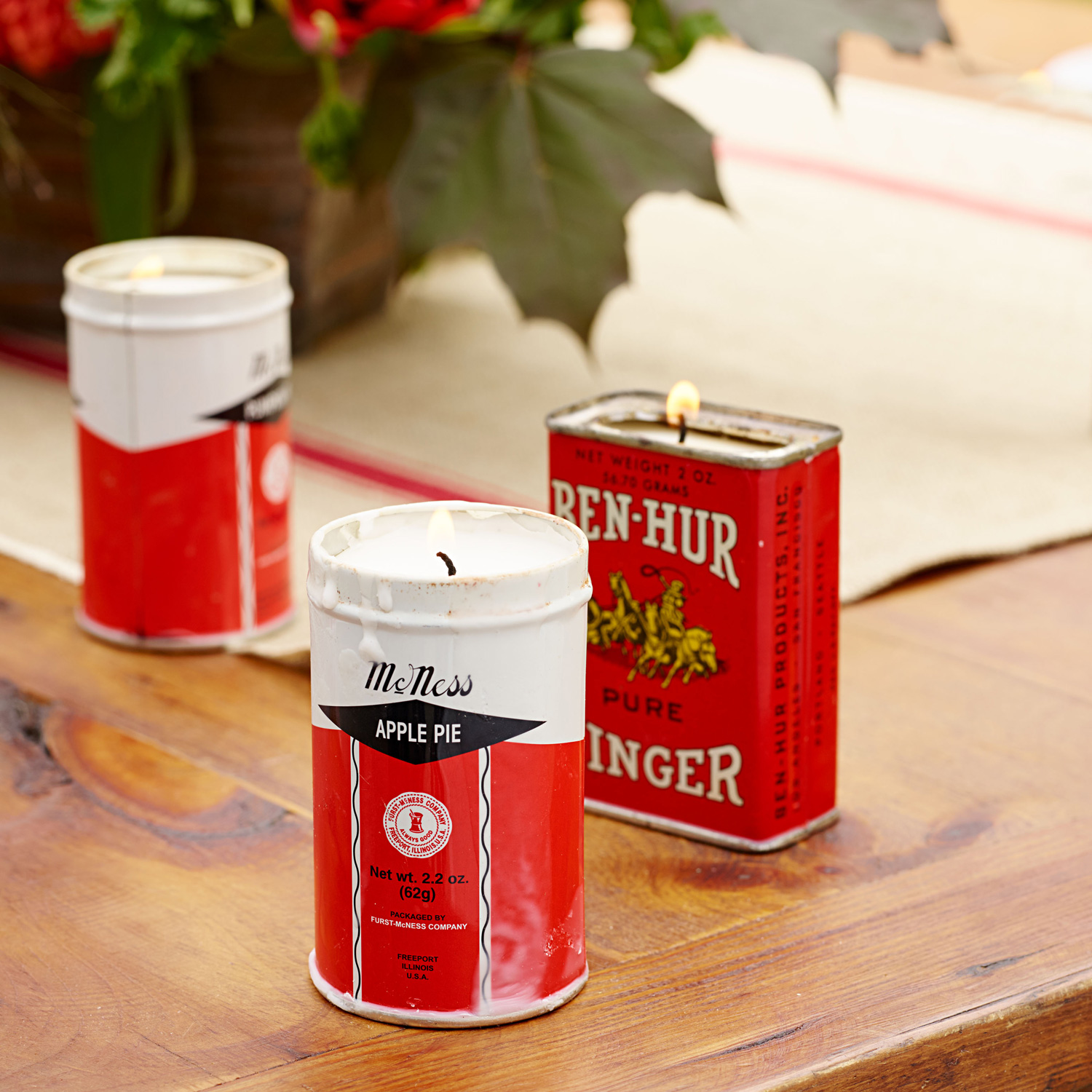 Spice tin candles