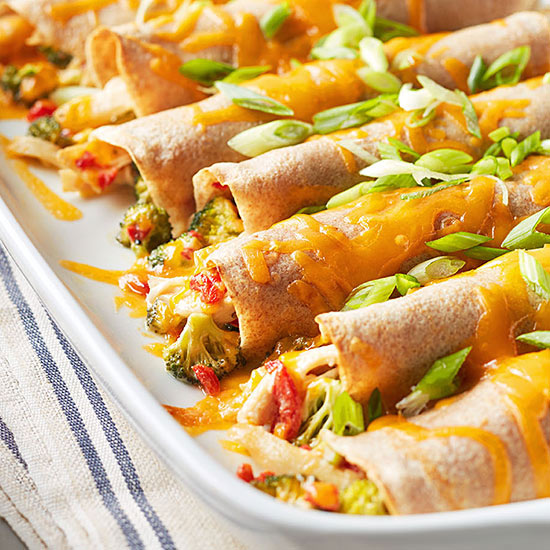 Cheesy Chicken-Broccoli Crepe Bake