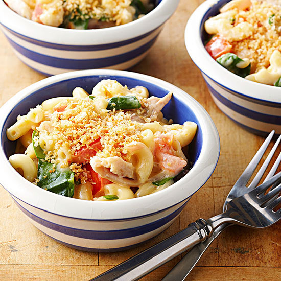 Chicken, Tomato and Spinach Mac and Cheese