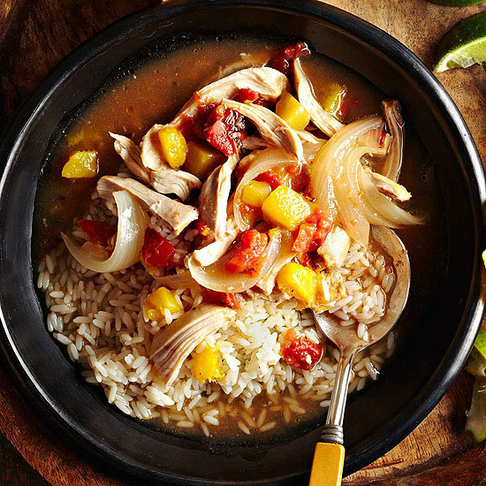 Slow-Cooker Mango-Chicken Tinga