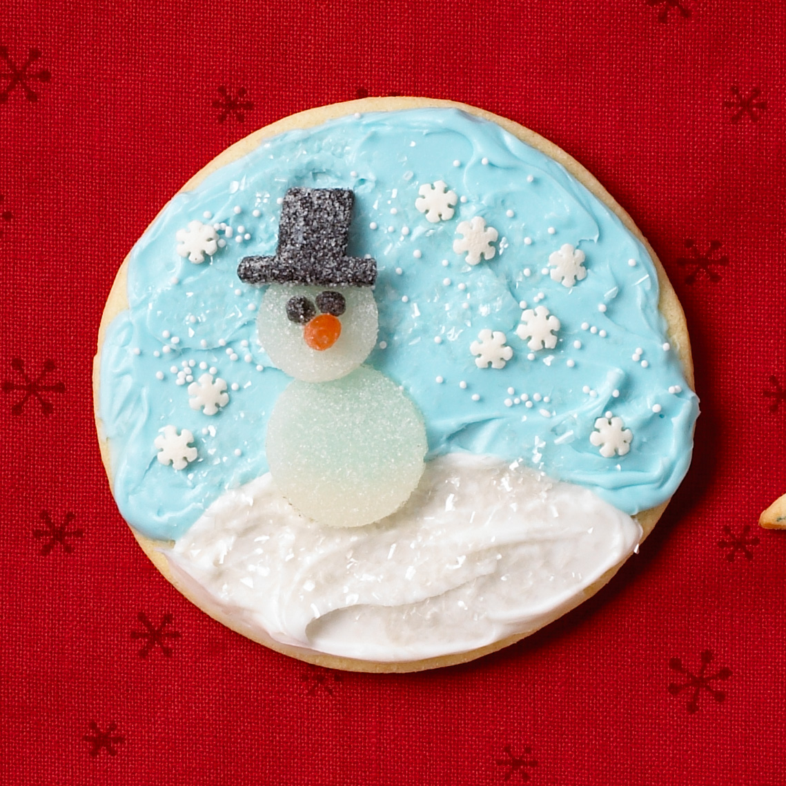 Snowman gumdrop cookie
