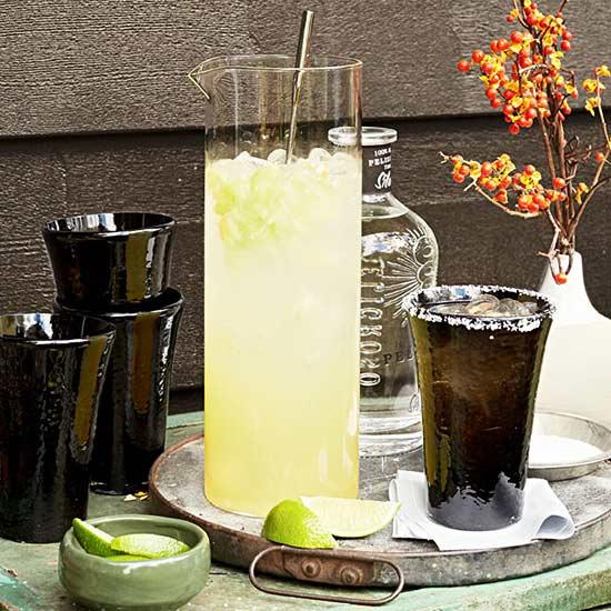 Cucumber Habanero Margaritas