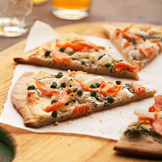 Dilly Smoked Salmon Pizza
