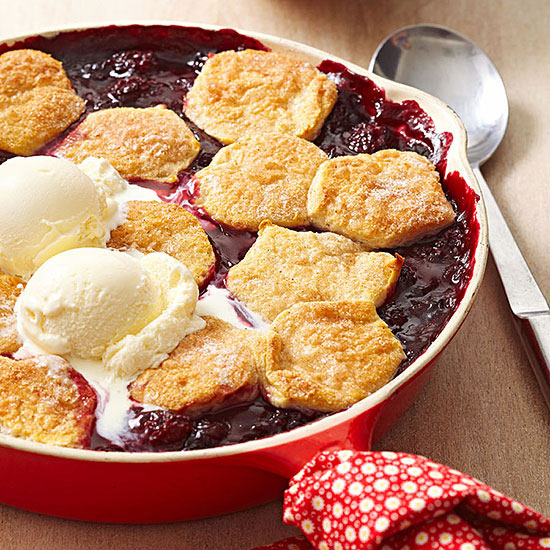 Double Berry Cobbler