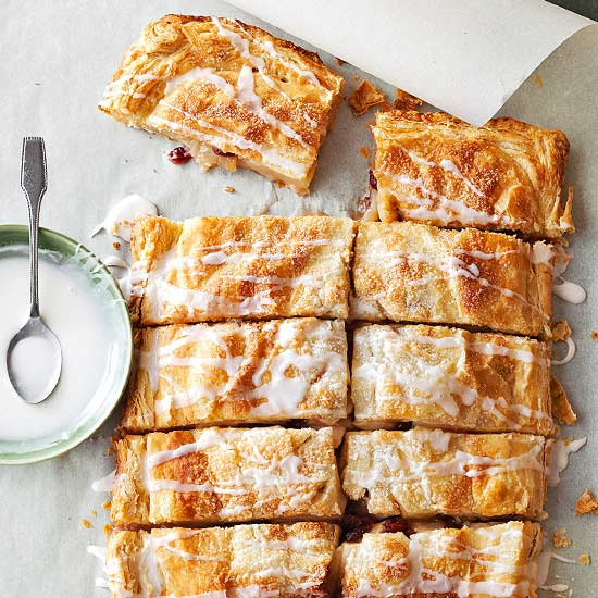 Easy Apple Cranberry Slab Pie