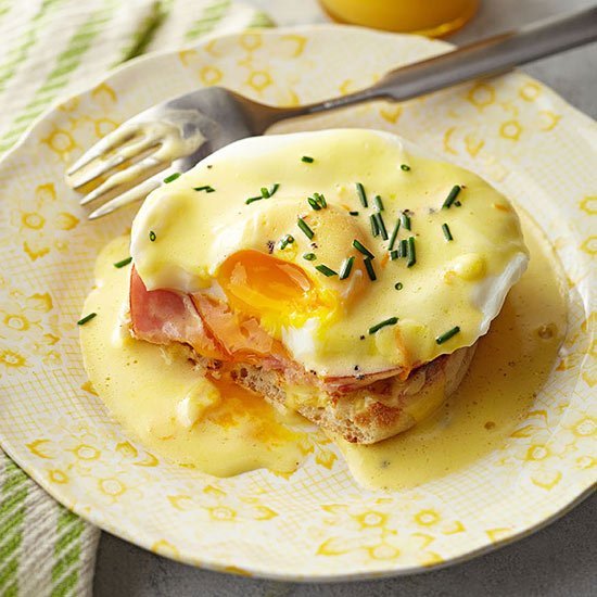 Eggs Benedict with Maltaise Sauce