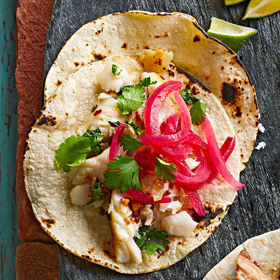Garlicky Fish Tacos