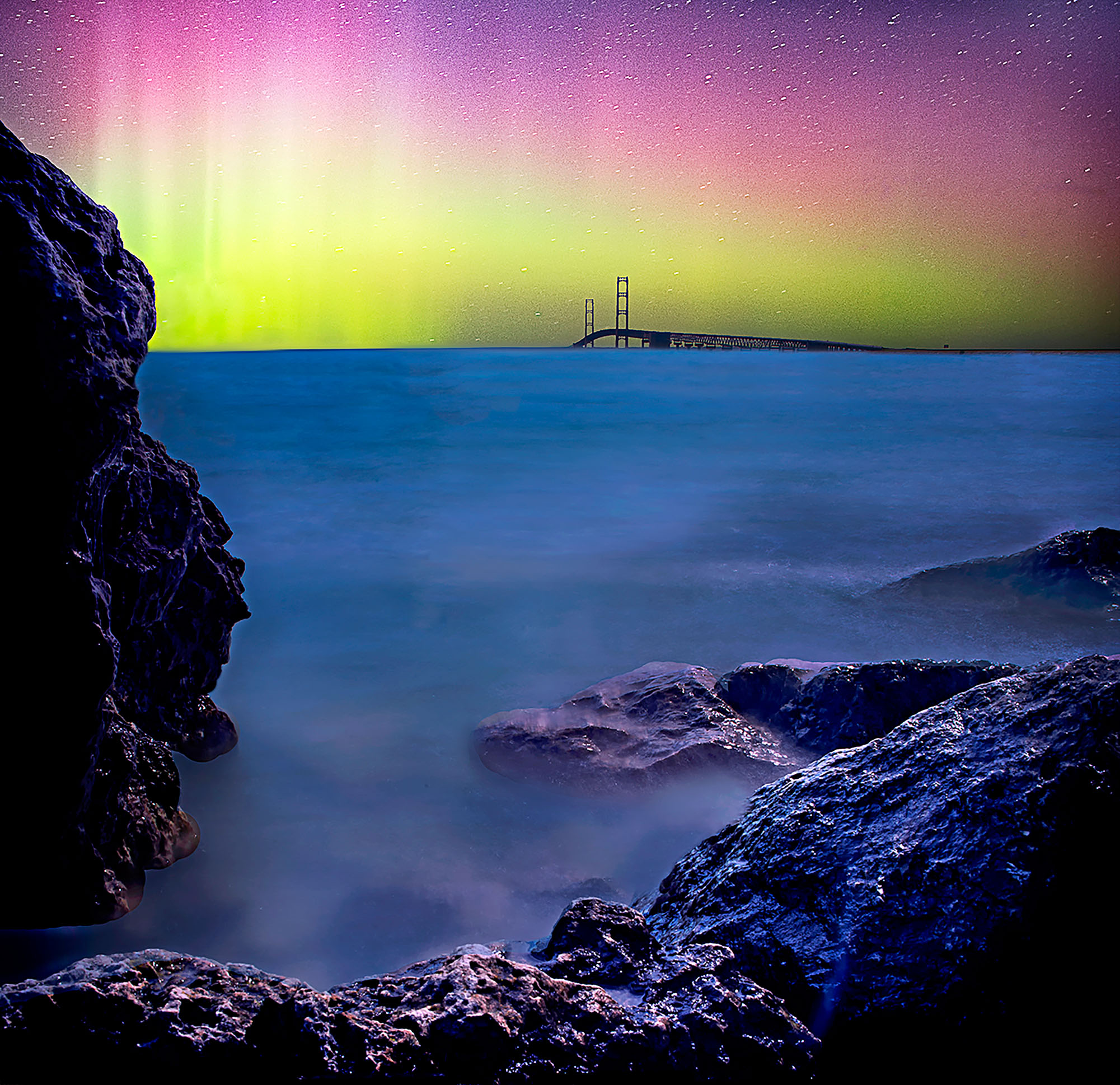 Northern Lights. Gordon Somers/Getty