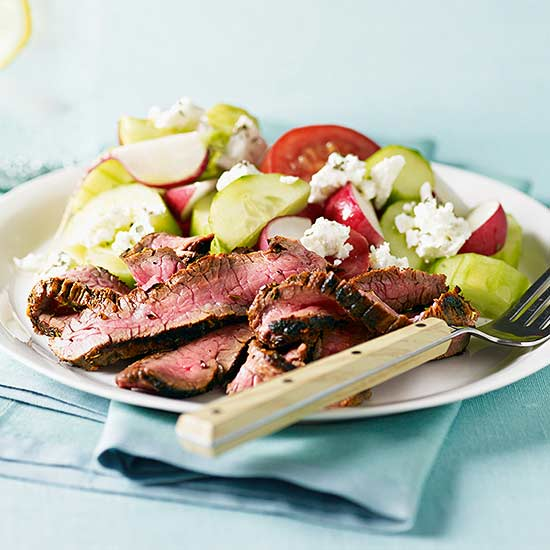 Greek-Style Steak and Tomato Salad