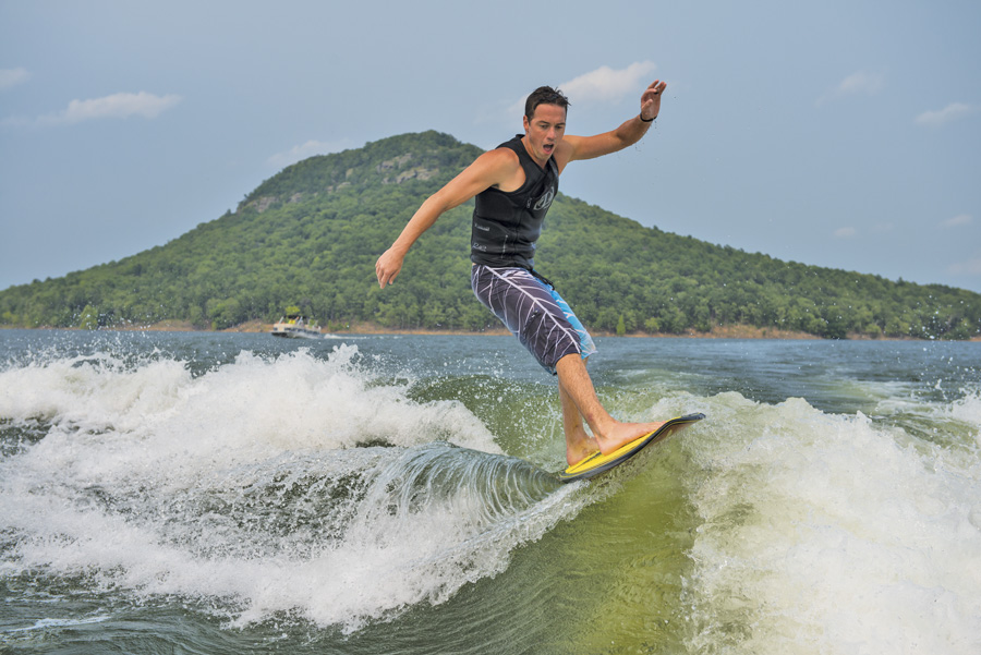 Greers Ferry Lake Surfing