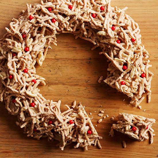 Triple-Almond Haystack Wreath