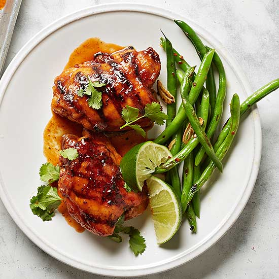 Honey-Sriracha Grilled Chicken Thighs