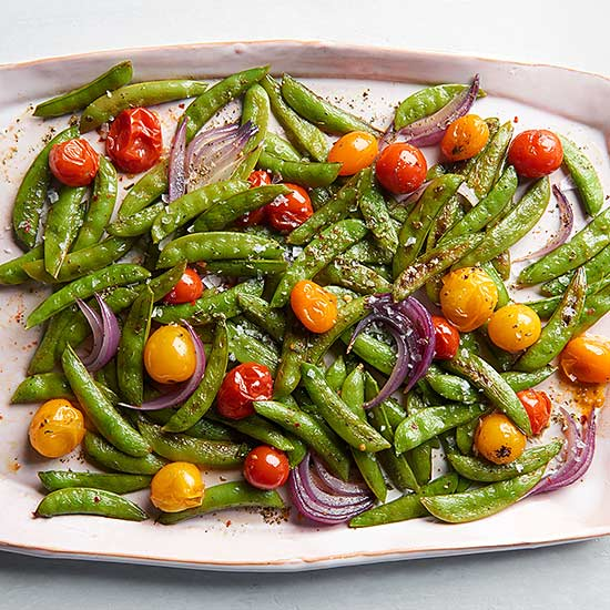 Italian Roasted Snap Peas