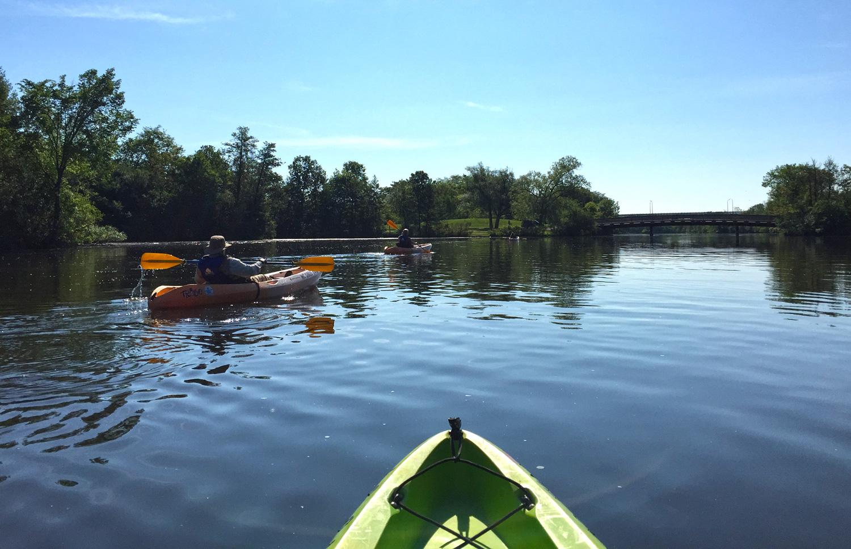 Kayaking the Huron River