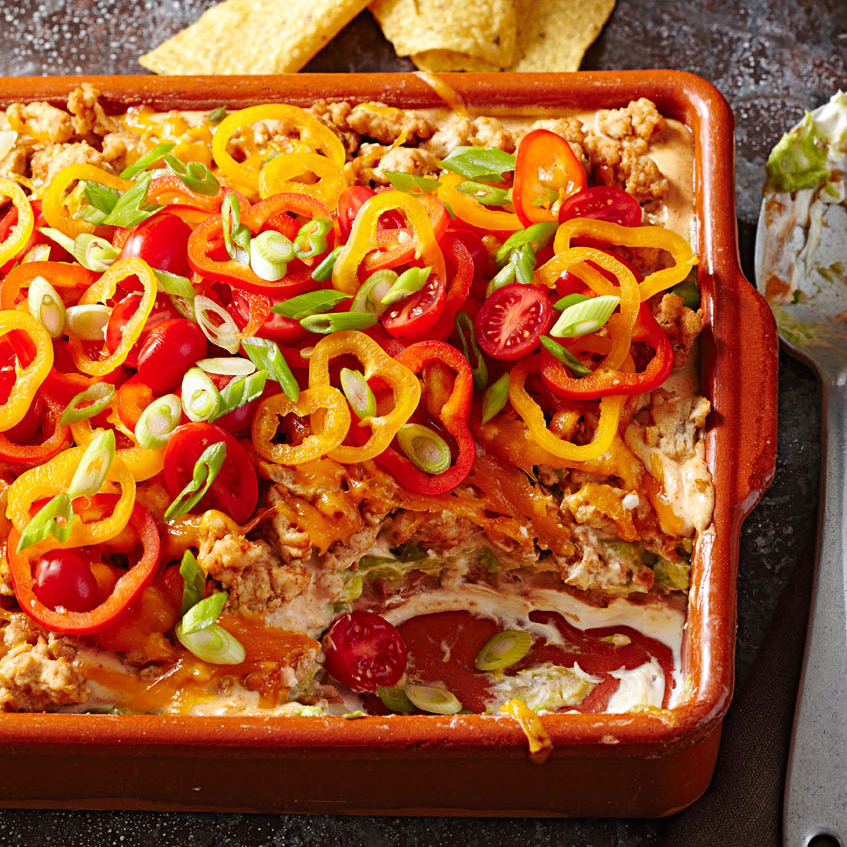 Light and Layered Taco Dip
