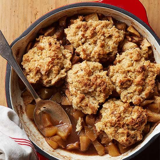 Maple-Walnut Apple Cobbler