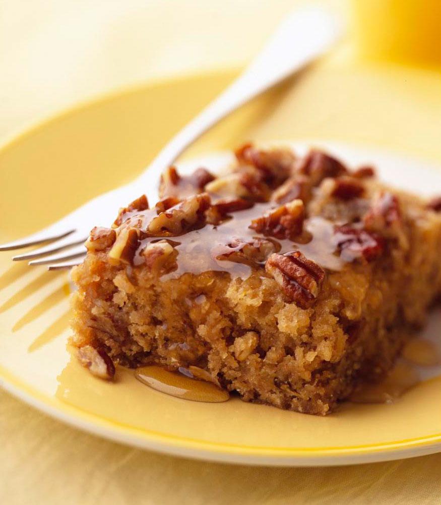 Honey-Glazed Buttermilk Oatmeal Coffee Cake